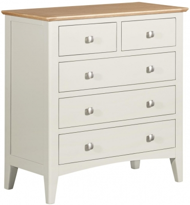 Lowell Oak and White Painted 2+3 Drawer Chest