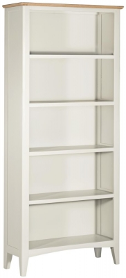Lowell Oak and White Painted Large Bookcase