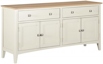 Lowell Oak and White Painted 4 Door Sideboard