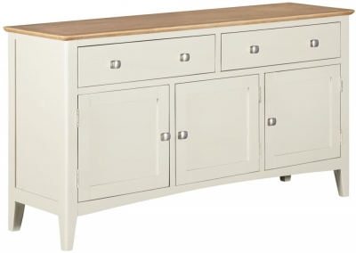 Lowell Oak and White Painted 3 Door Sideboard