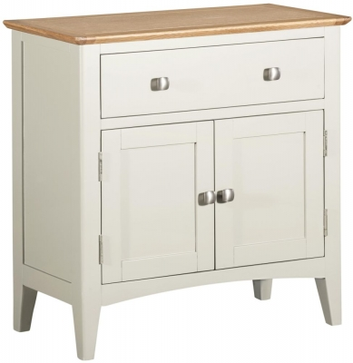Lowell Oak and White Painted 2 Door Sideboard