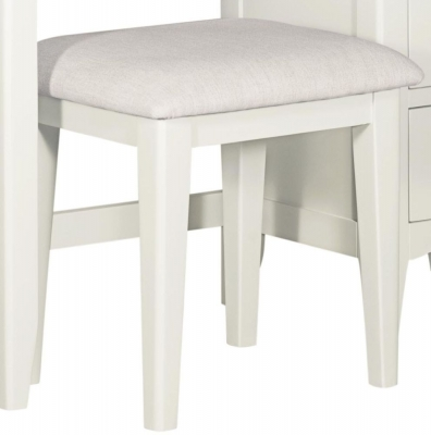 Lowell White Painted Dressing Stool