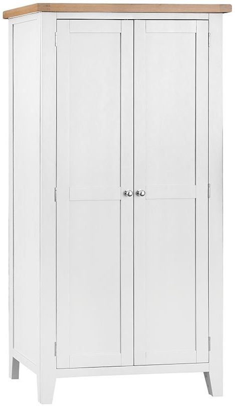 Lowell Oak and White Painted 2 Door Wardrobe