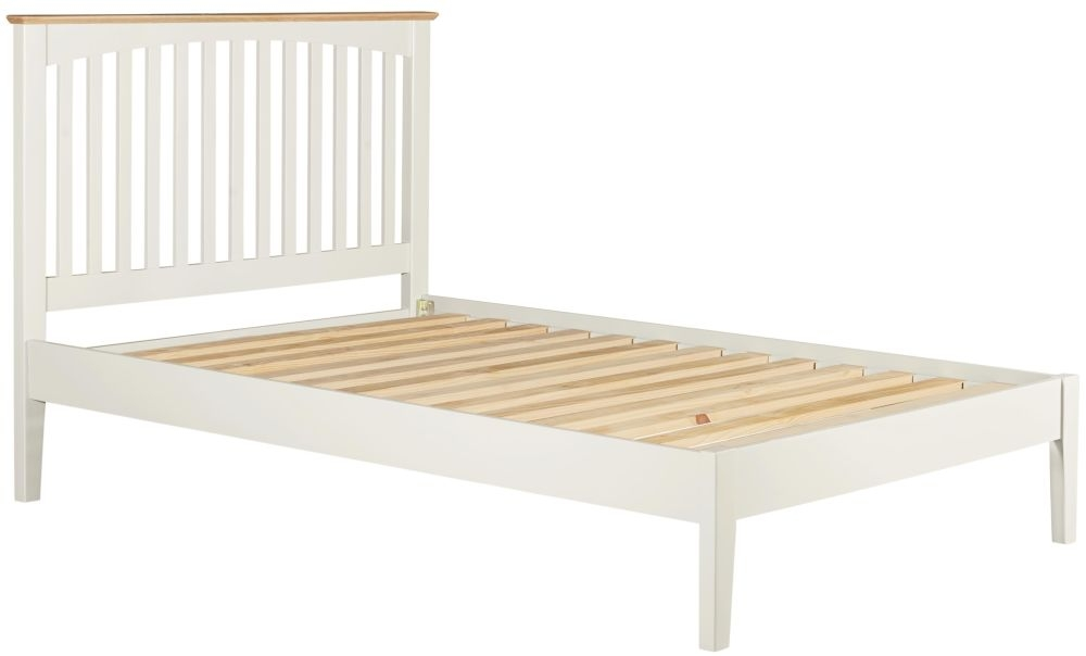 Lowell Bed - Oak and White Painted