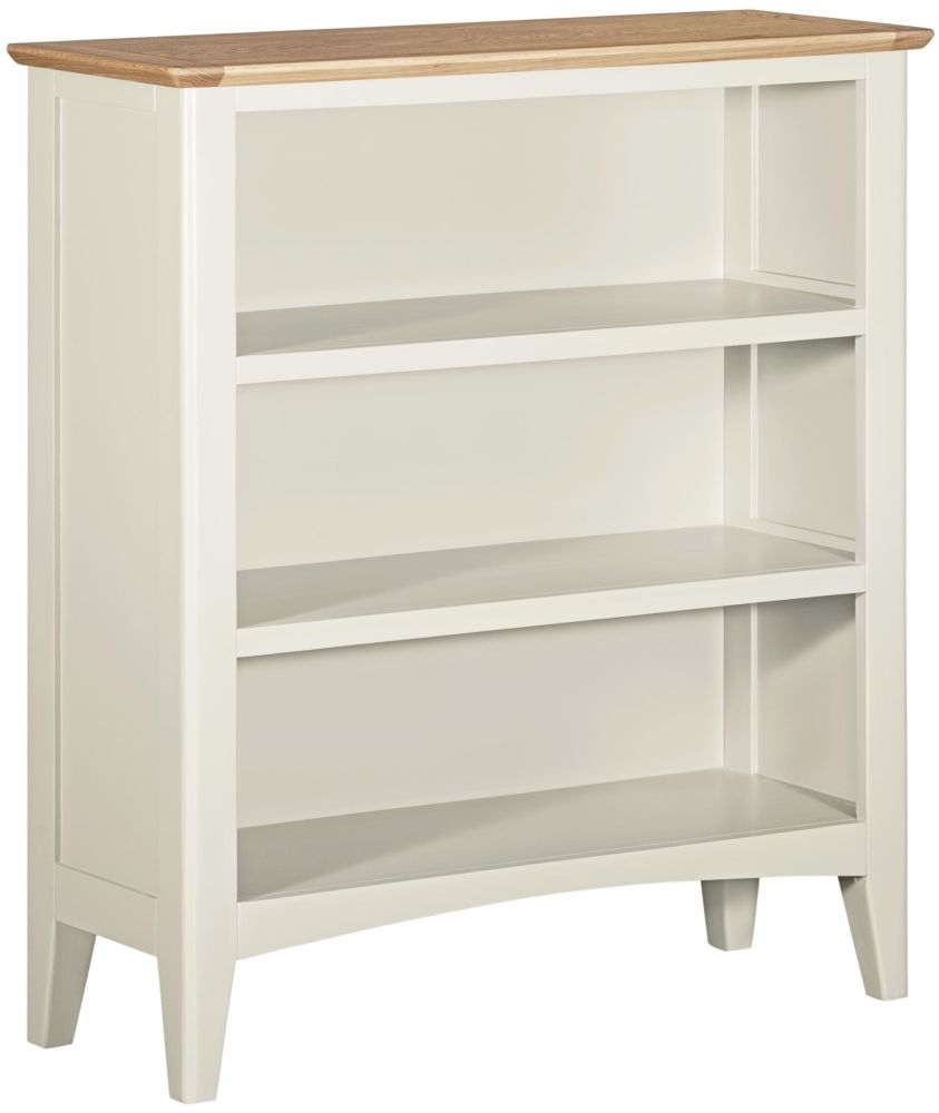 Lowell Oak and White Painted Small Bookcase