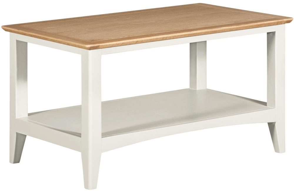 Lowell Coffee Table - Oak and White Painted