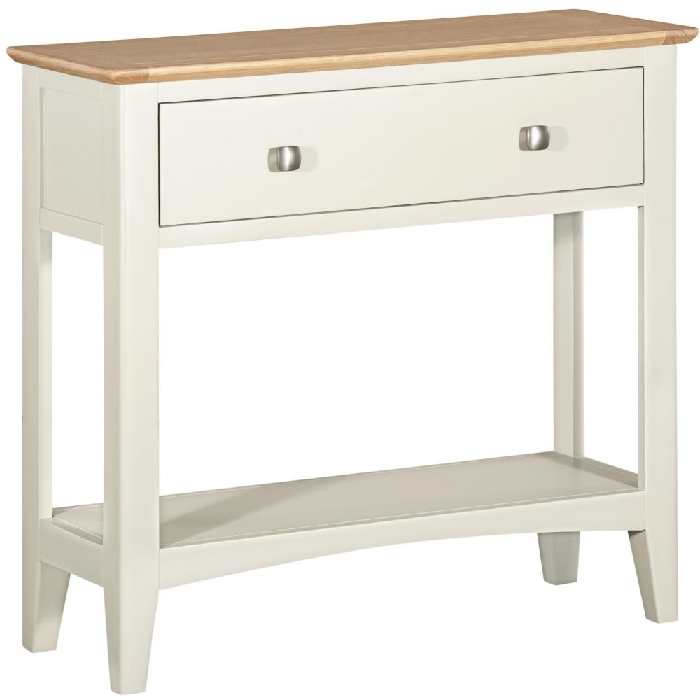 Lowell Oak and White Painted Console Table
