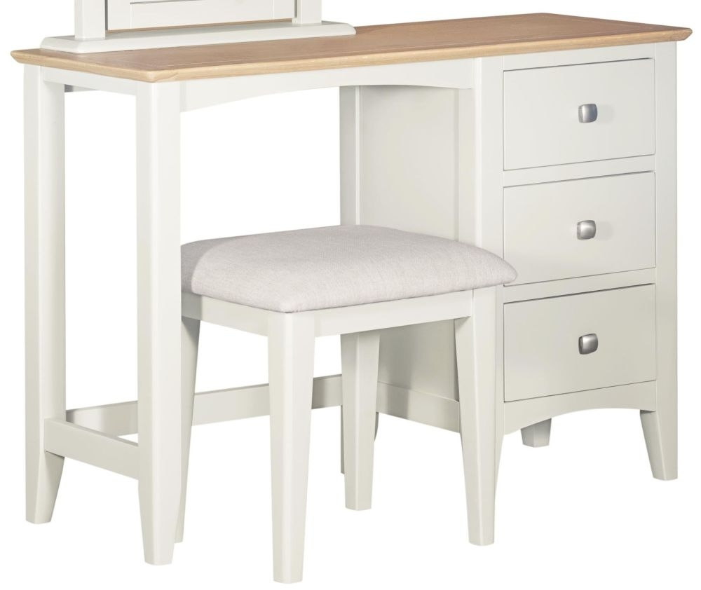 Lowell Dressing Table - Oak and White Painted