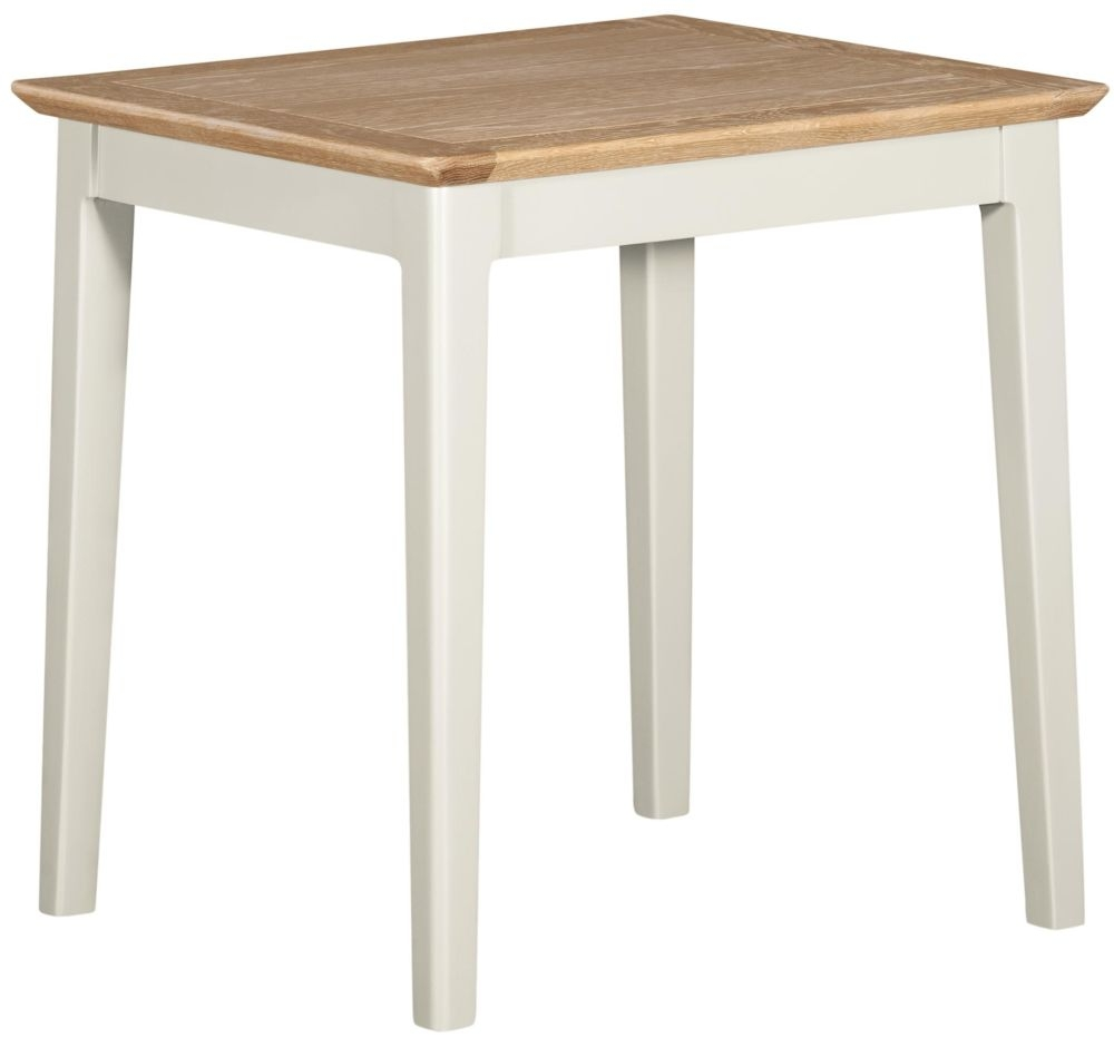 Lowell Oak and White Painted Lamp Table