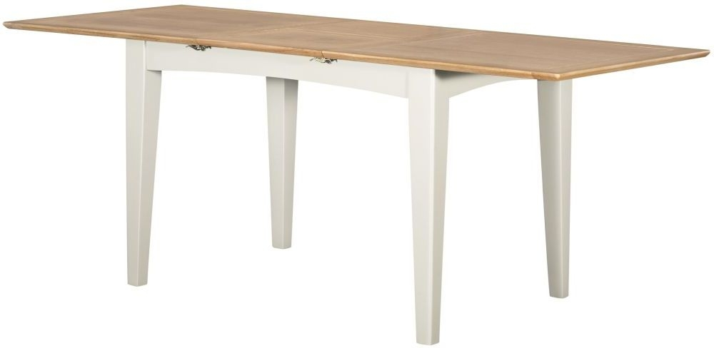 Lowell Large Extending Dining Table - Oak and White Painted