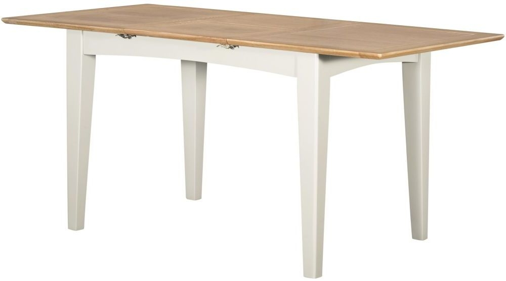 Lowell Small Extending Dining Table - Oak and White Painted