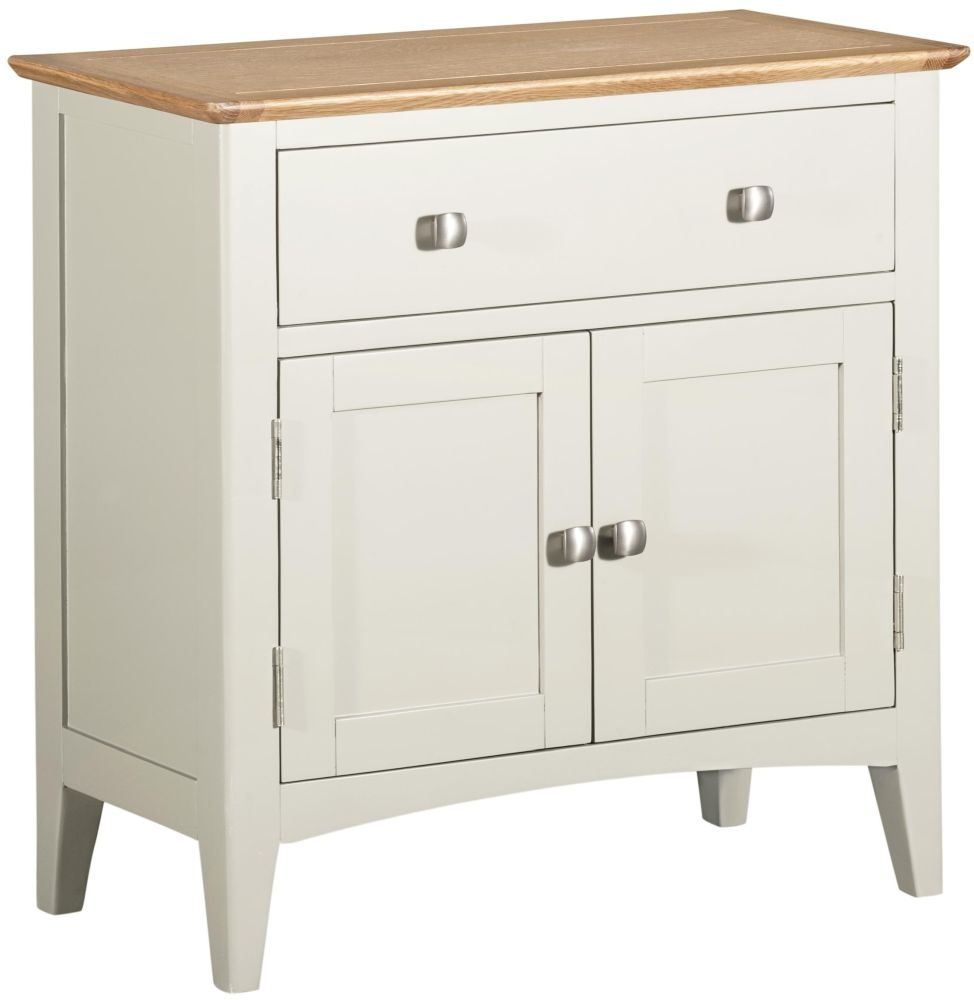 Lowell Small Sideboard - Oak and White Painted