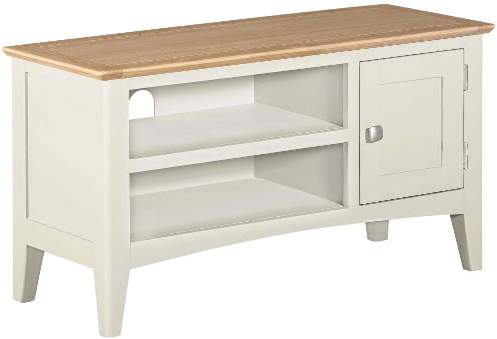 Lowell TV Unit - Oak and White Painted