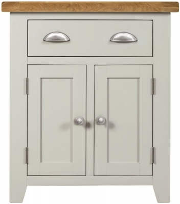 Lundy Oak and Grey Painted 2 Door 1 Drawer Sideboard