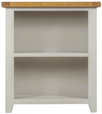 Lundy Oak and Grey Painted Low Bookcase