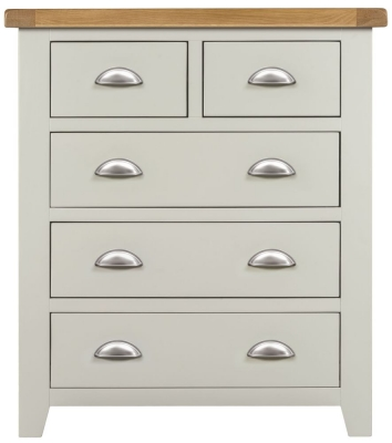 Lundy Oak and Grey Painted 2+3 Drawer Chest
