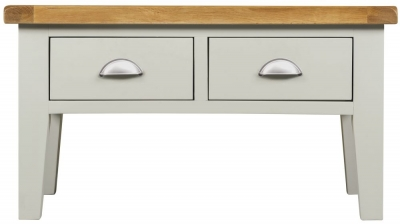 Lundy Oak and Grey Painted 2 Drawer Coffee Table