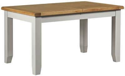 Lundy Oak and Grey Painted 140cm-180cm Extending Dining Table