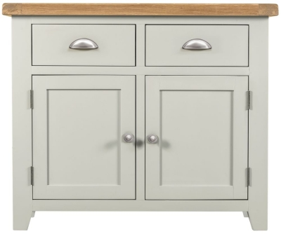 Lundy Oak and Grey Painted 2 Door 2 Drawer Sideboard