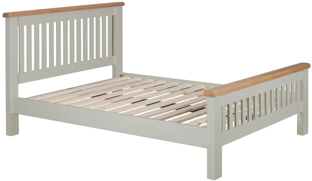 Lundy Oak and Grey Painted Bed
