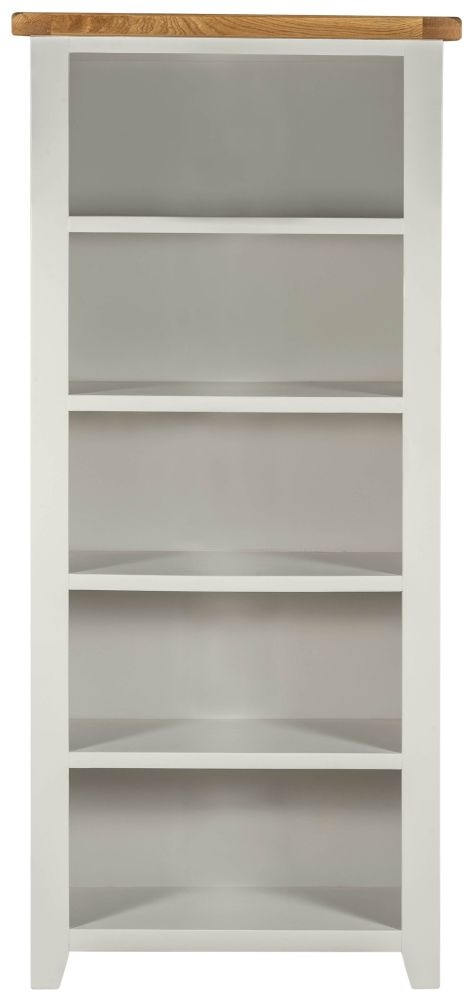 Lundy Grey Large Bookcase