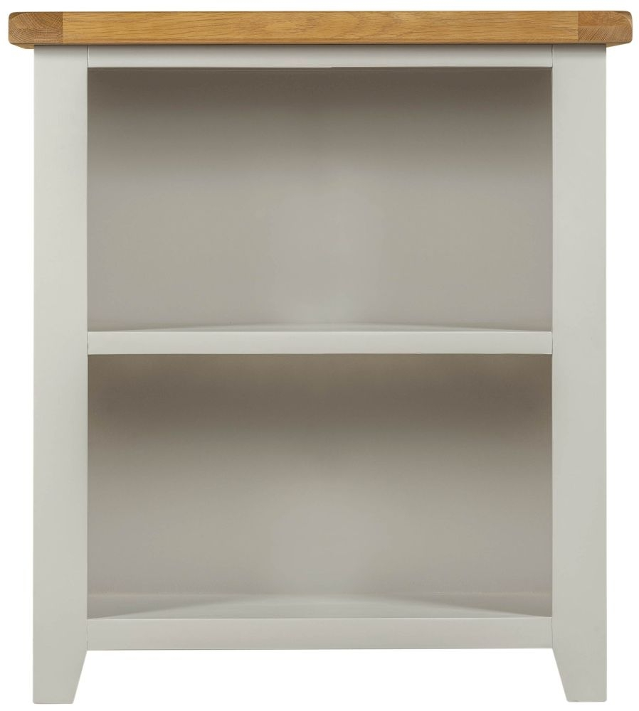 Lundy Grey Bookcase - Low