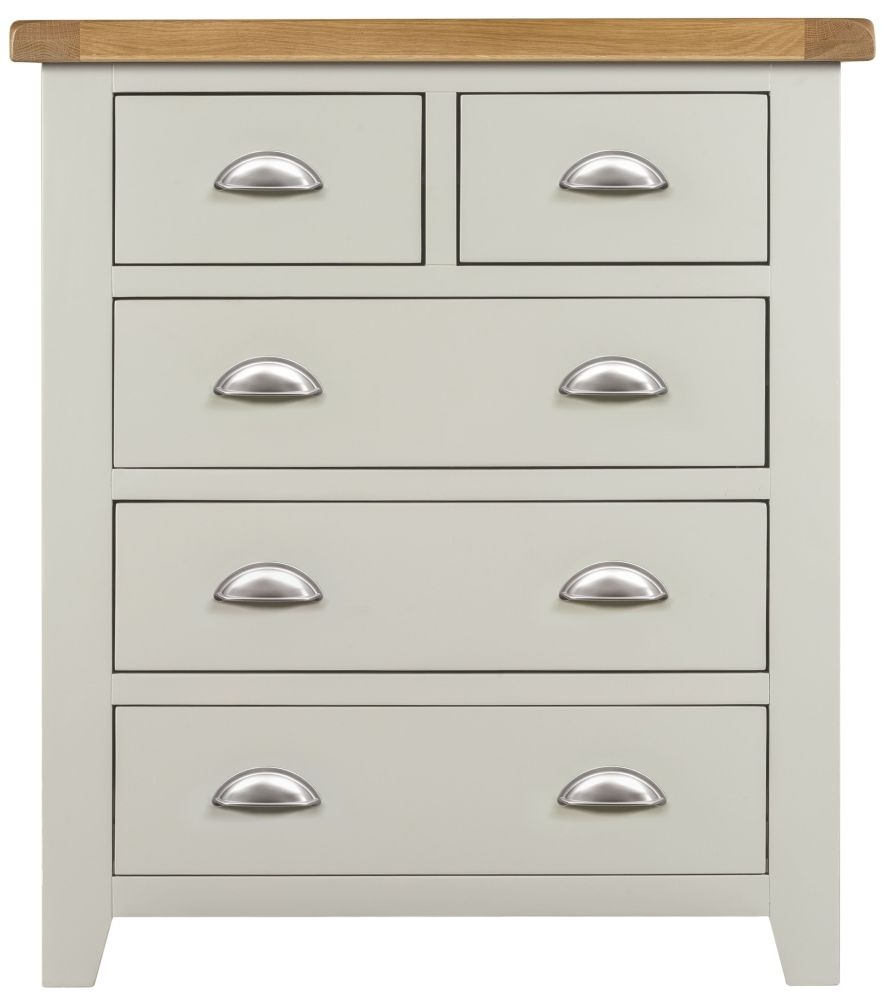 Lundy Grey Chest of Drawer - 2+3 Drawer