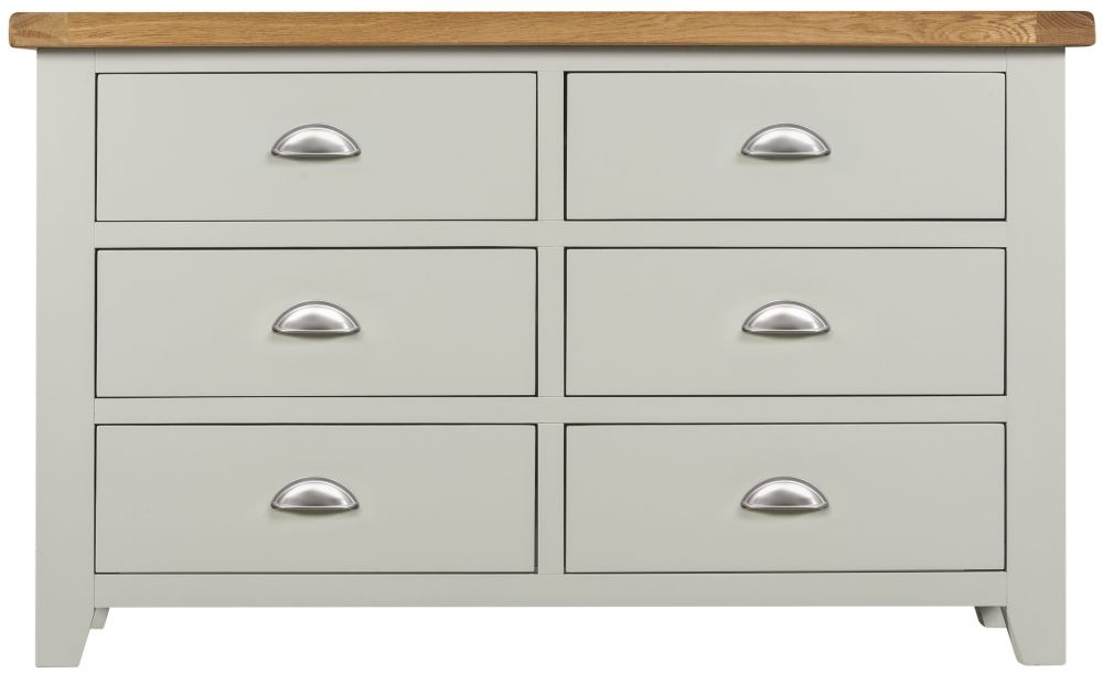 Lundy Grey Chest of Drawer - 6 Drawer