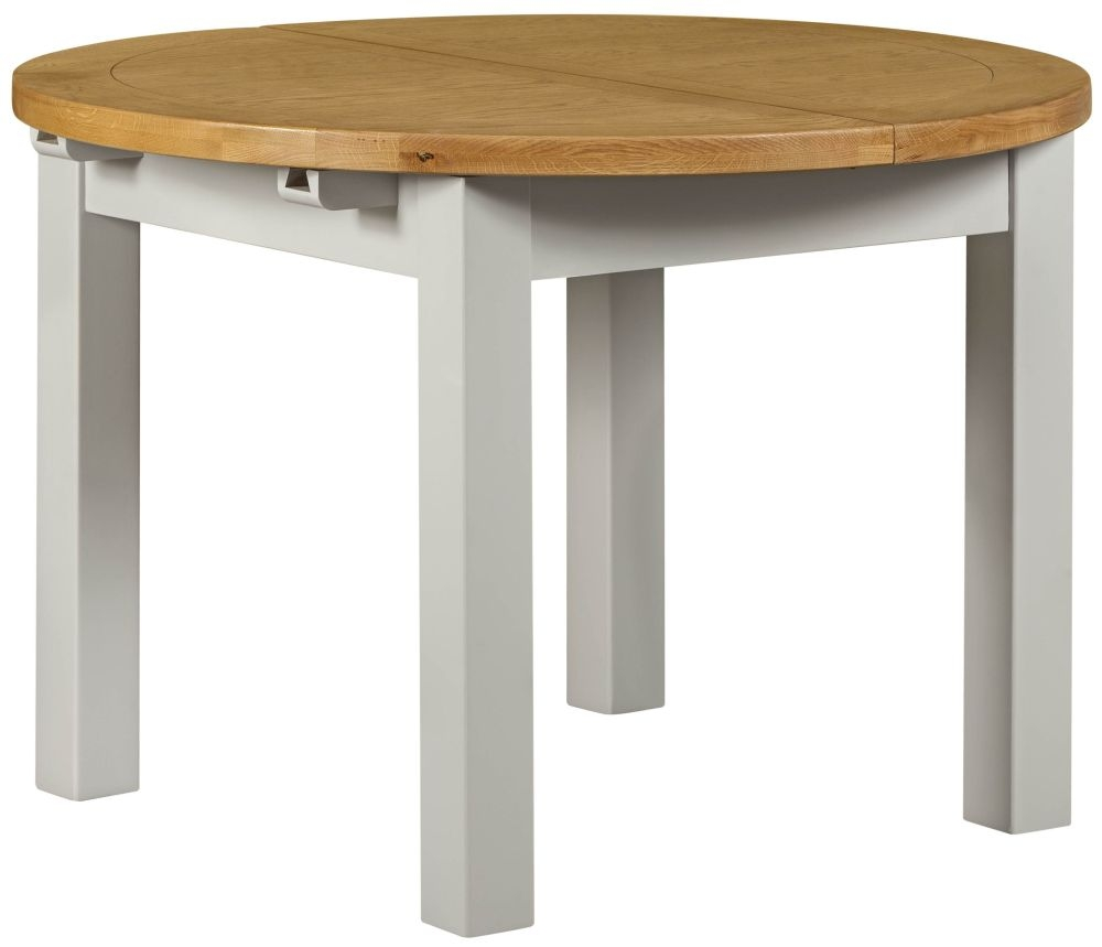 Lundy Grey Dining Table - Round Extending