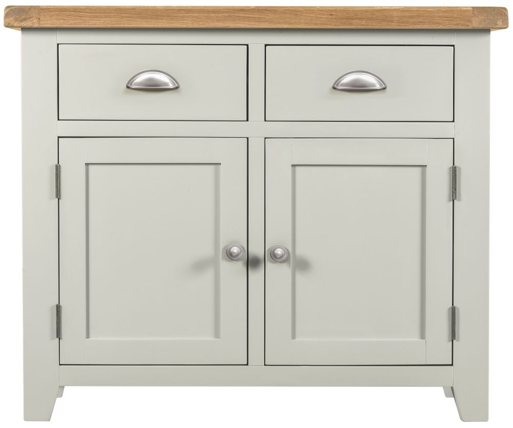 Lundy Grey 2 Door 2 Drawer Narrow Sideboard