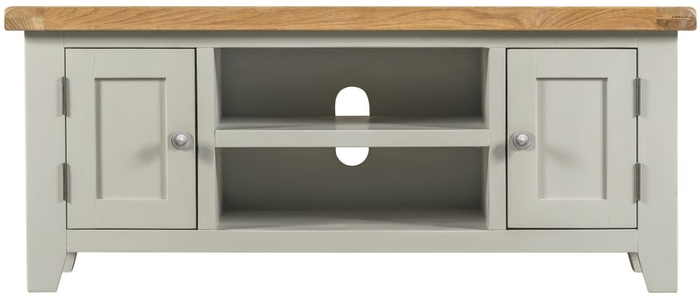 Lundy Grey 2 Door TV Unit