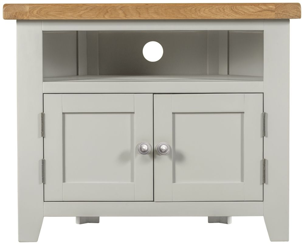 Lundy Grey TV Unit - Corner