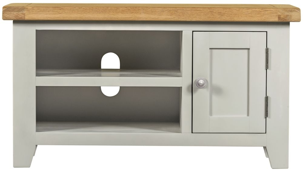 Lundy Grey 1 Door Small TV Unit