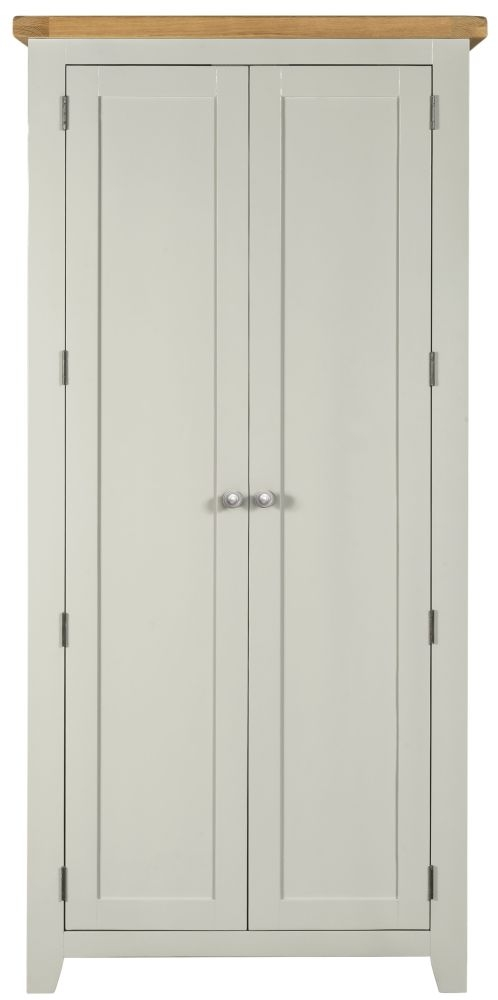 Lundy Grey Wardrobe - 2 Door