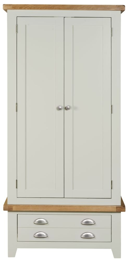 Lundy Grey 2 Door 1 Drawer Double Wardrobe