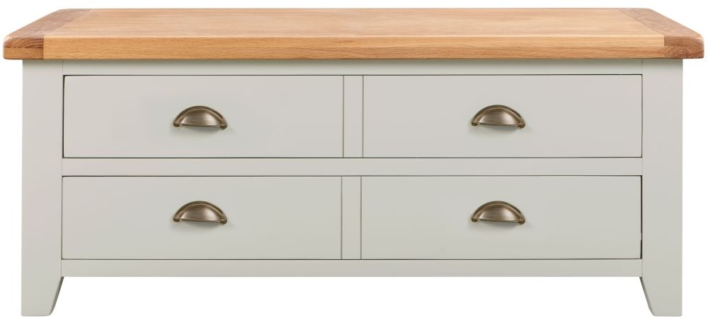 Lundy Oak and Grey Painted Storage Coffee Table