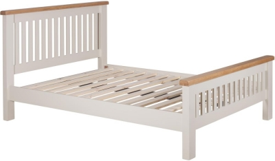 Lundy Oak and White Painted Bed