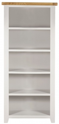 Lundy Oak and White Large Bookcase