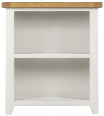 Lundy Oak and White Low Bookcase