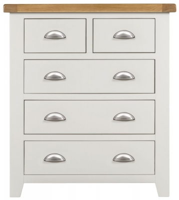 Lundy Oak and White 2+3 Drawer Chest
