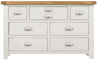 Lundy Oak and White 3+4 Drawer Chest