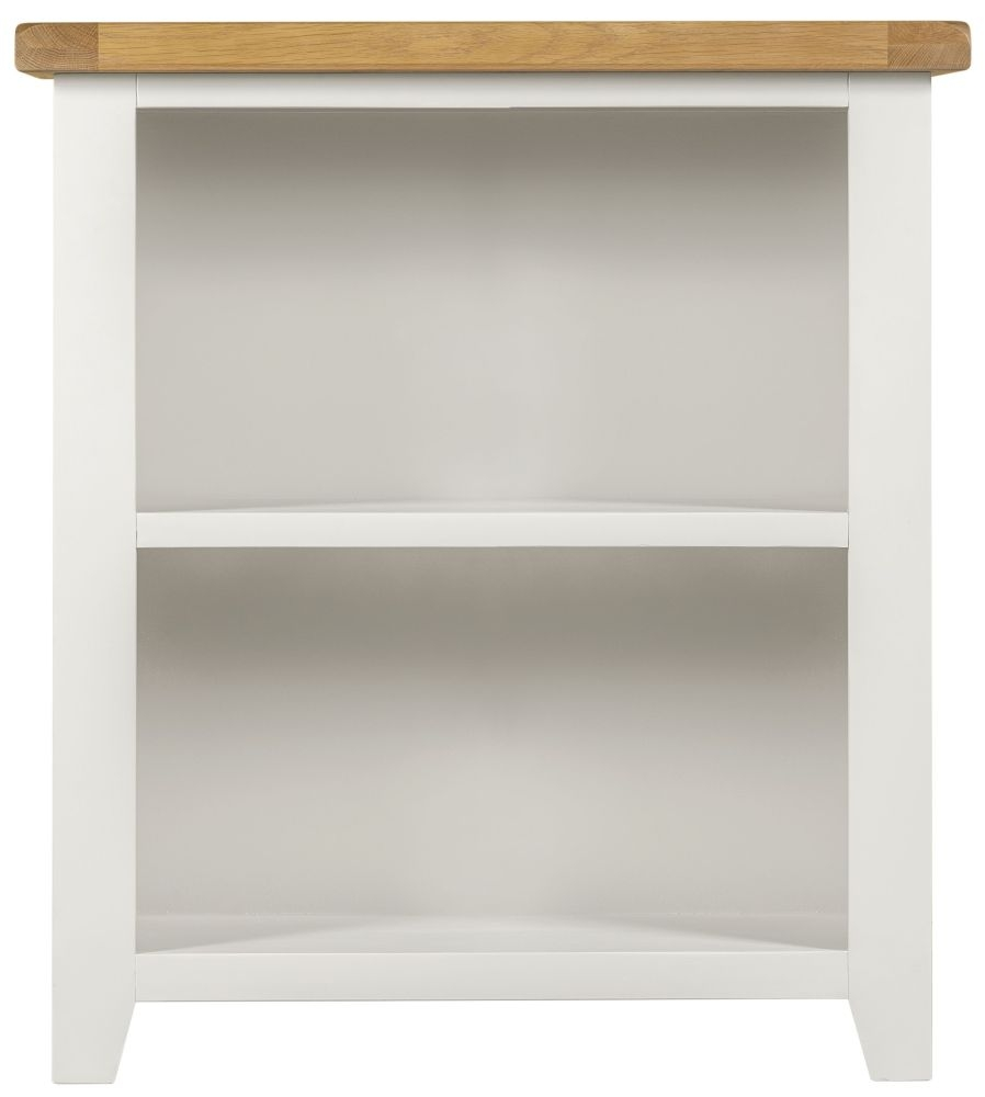 Lundy White Bookcase - Low