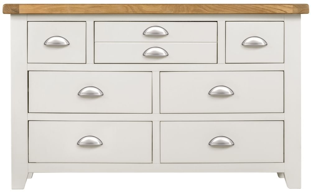 Lundy White Chest of Drawer - 3+4 Drawer