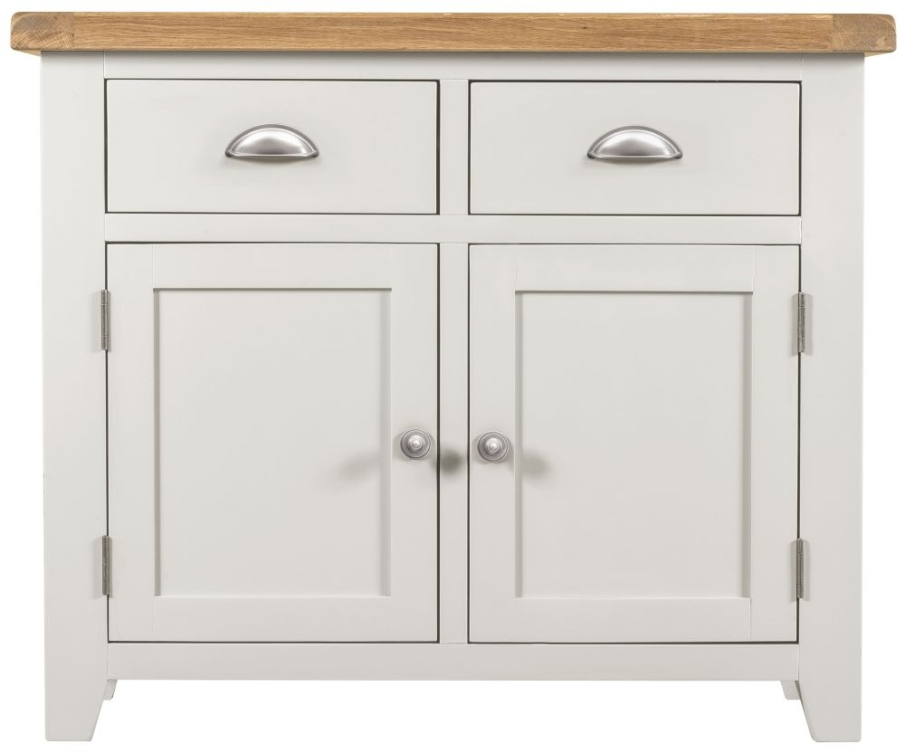 Lundy White 2 Door 2 Drawer Narrow Sideboard