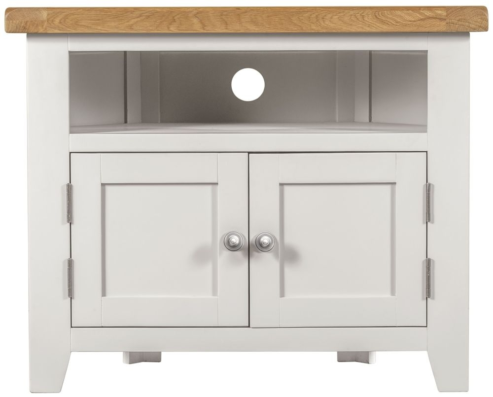 Lundy White TV Unit - Corner