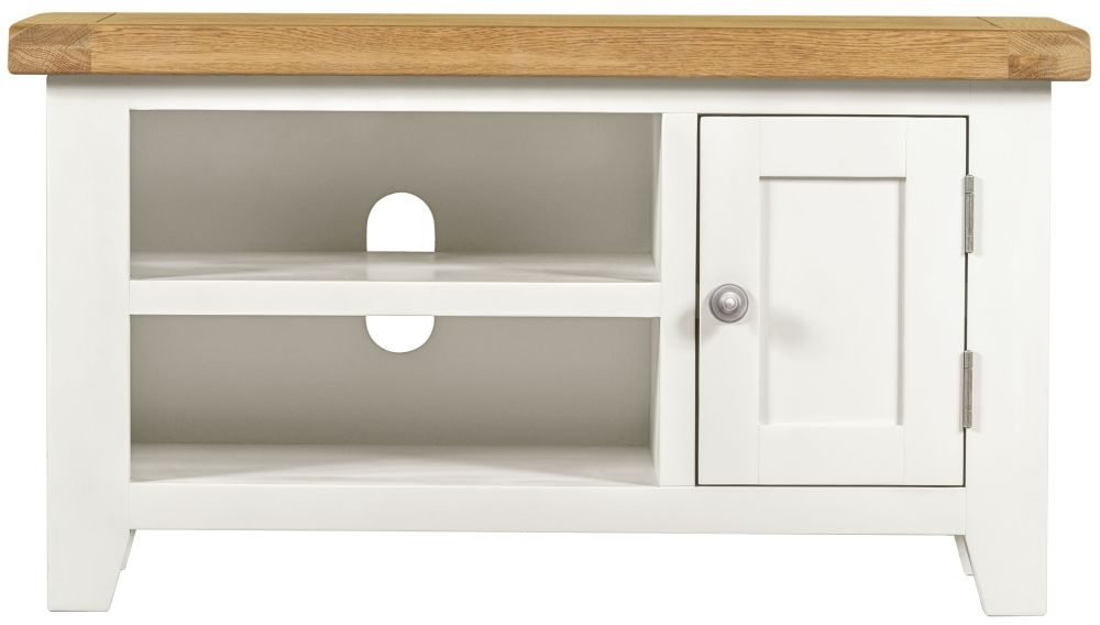 Lundy White 1 Door Small TV Unit