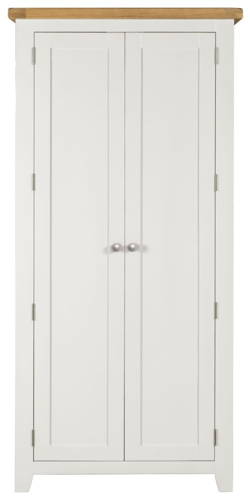 Lundy White Wardrobe - 2 Door