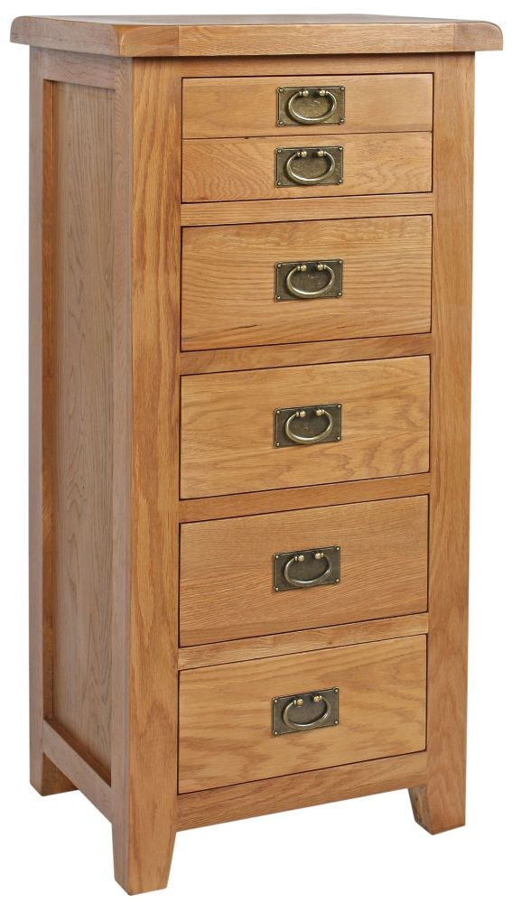 Lyon Oak Chest of Drawer - 5 Drawer