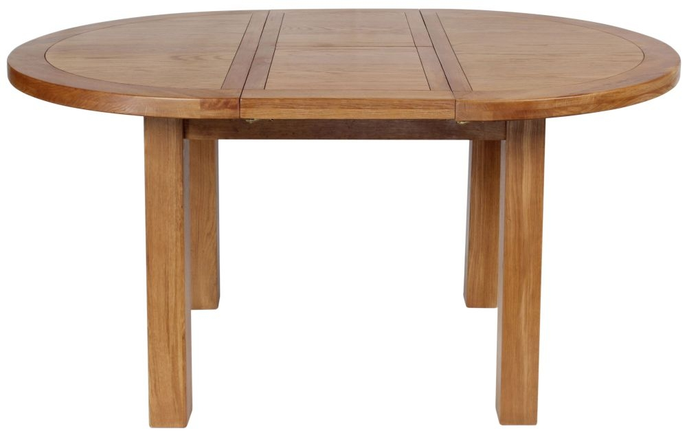 Lyon Oak Round 110cm Extending Dining Table