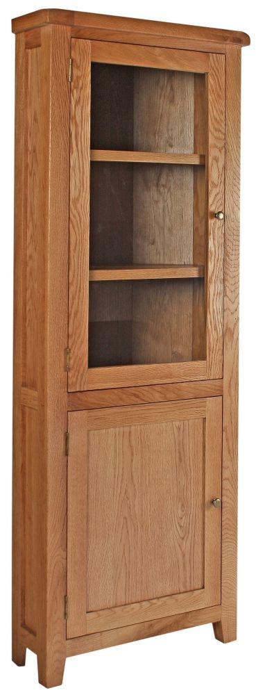 Lyon Oak Display Cabinet - 2 Door